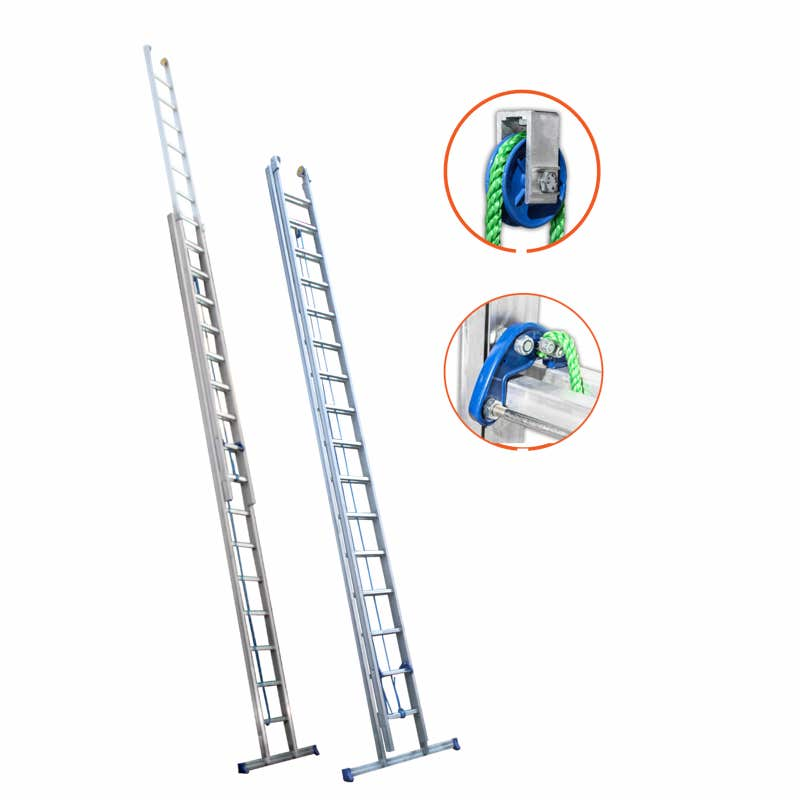 Metaform Type 36 HD 2 Section Rope-Operated Extension Ladder